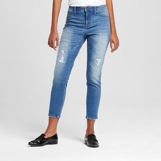 Mossimo Women's High Rise Jegging Crop - Mossimo Medium Blue $29.99 thestylecure.com