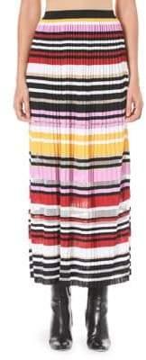 Carolina Herrera Multi-Stripe Long Skirt