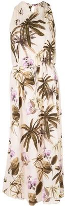 Vince mixed tropical garden dress