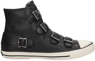 Ash Vincent Black Leather Sneakers