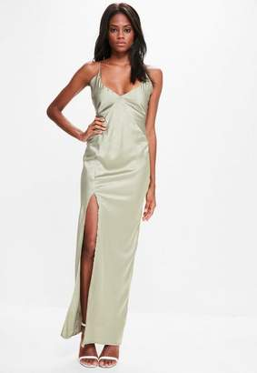 Missguided Silky Plunge Maxi Dress