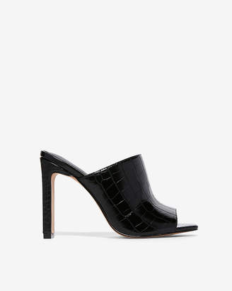 Express Square Toe Heeled Mules