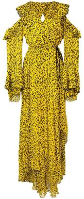 Diane von Furstenberg leopard print ruffled dress