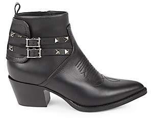 Valentino Women's Rockstud Western Leather Booties