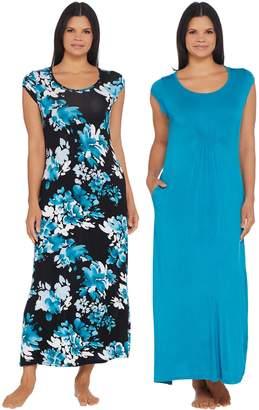 Carole Hochman Romantic Bouquet Rayon Spandex 2-Pack Dress Set