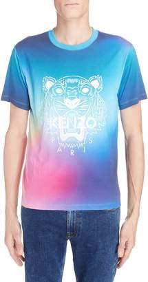 Kenzo Rainbow Tiger Print T-Shirt