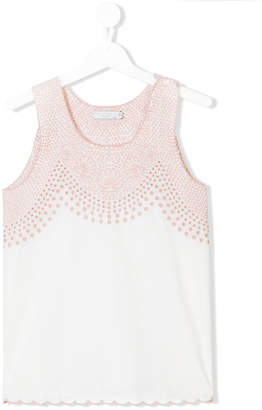 Stella McCartney TEEN Adriana embroidered blouse