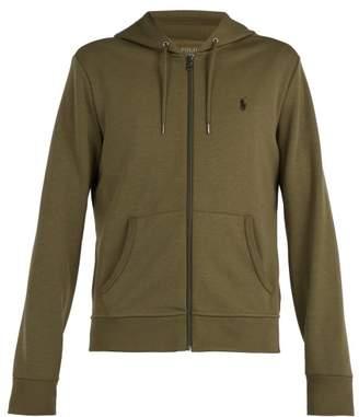 Polo Ralph Lauren Zip Through Hooded Cotton Jersey Sweatshirt - Mens - Khaki