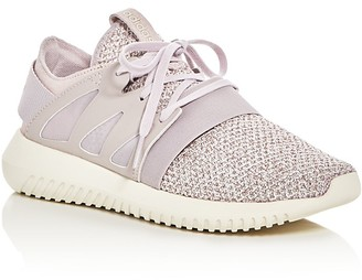Adidas Women's Tubular Viral Knit Lace Up Sneakers $100 thestylecure.com
