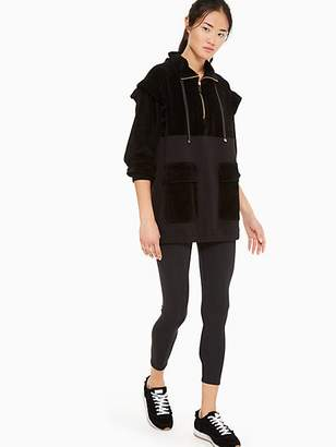 Kate Spade Velour Ruffle Pullover, Black - Size M