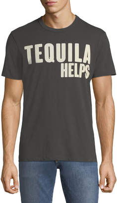Chaser Men's Tequila Helps Crewneck Short-Sleeve Cotton Tee