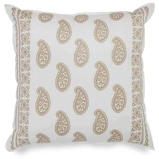 Dena Designs Marielle Quilted Paisley 100% Cotton Euro Pillow