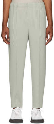 Issey Miyake Homme Plisse Grey Tapered Tailored Trousers