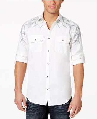 INC International Concepts I.n.c. Men's Embroidered Shirt, Created for Macy's