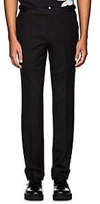 Paul Smith MEN'S SATIN-WAISTBAND WOOL TROUSERS-BLACK SIZE 36