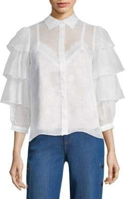 Alice + Olivia Ruffle Sleeve Blouse