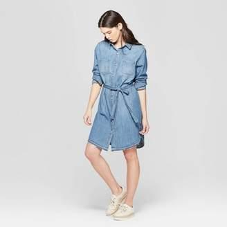 Universal Thread Women's Long Sleeve Denim Shirtdress