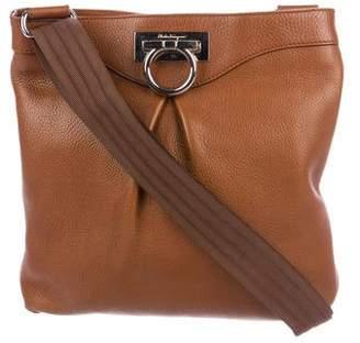 Salvatore Ferragamo Grained Leather Gancini Crossbody Bag