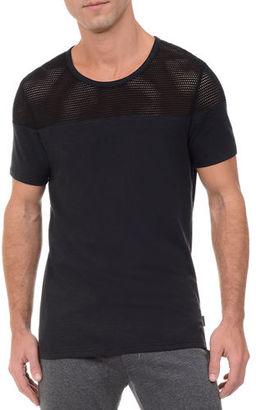 2Xist Mesh Panel Textured Jersey T-Shirt $54 thestylecure.com