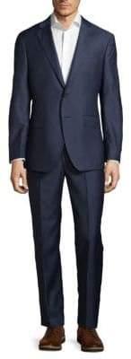 Modern Fit Herringbone Wool Suit