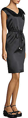 Marc Jacobs Women's Satin Tie Waist Popover Dress - Size 0