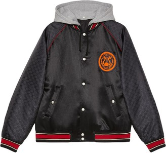 Gucci Acetate bomber jacket with lyre patch