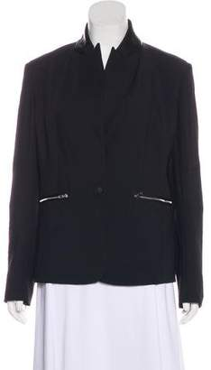 Rag & Bone Leather-Accented Structured Blazer w/ Tags