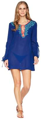 LaBlanca La Blanca Leaf It To Me Cool Shoulder Tunic Cover-Up Women's Swimwear