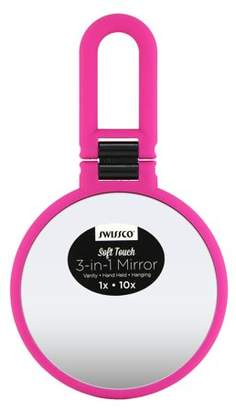 Swissco Soft Touch 3-in-1 Mirror, Hot Pink