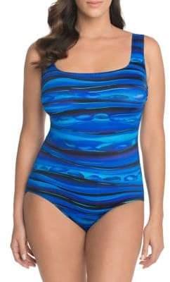 Longitude Lattice Back One-Piece Swimsuit