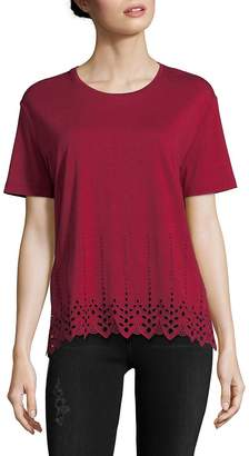 The Kooples Women's English Embroidered T-Shirt