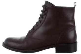 Saint Laurent Leather Combat Ankle Boots