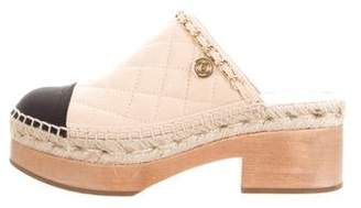 Chanel Quilted Cap-Toe Clogs