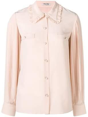 Miu Miu pearl button shirt