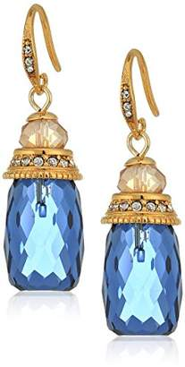 Carolee Pacific Gala Faceted Stone Column Drop Earrings