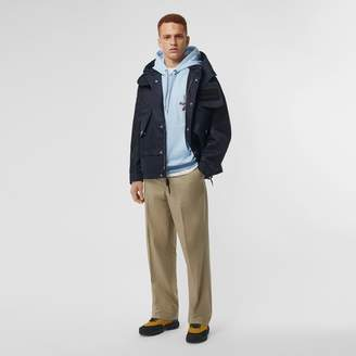 Burberry Detachable Hood Nylon Twill Jacket