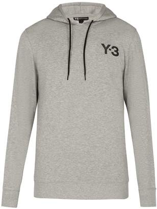 Y-3 Logo-print hooded cotton sweatshirt