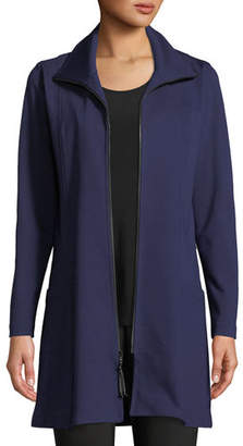 Caroline Rose Zip-Front Ponte Luxe Walking Jacket