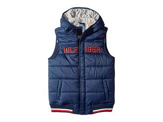 Tommy Hilfiger Adaptive Vest with Hood and Magnetic Buttons (Little Kids/Big Kids)