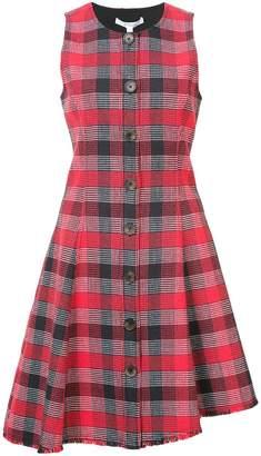 Derek Lam 10 Crosby Sleeveless Button-Down Asymmetrical Dress