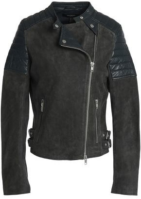 Muu Baa Muubaa Paneled Suede And Leather Biker Jacket