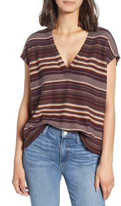 James Perse V-Neck Boxy Tee