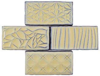 EliteTile SAMPLE - Antiqua Sensations Ceramic Subway Tile in Yellow