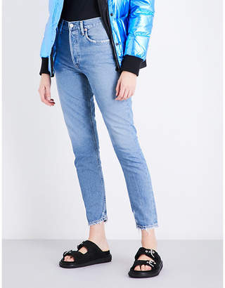 A Gold E AGOLDE Jamie distressed classic-fit high-rise jeans