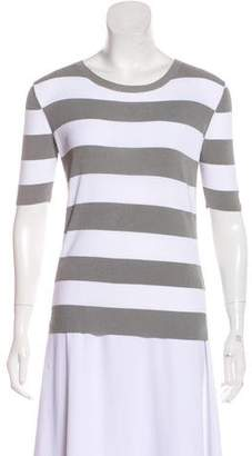 Theory Stripe Short Sleeve Top