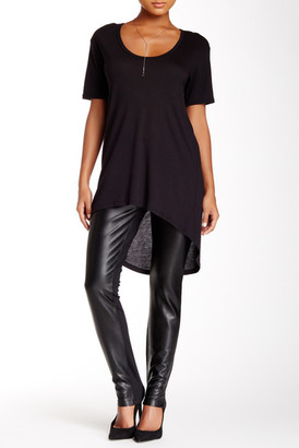 NYDJ Faux Leather Front Legging (Petite) $120 thestylecure.com