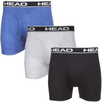 Head Men's 100% Cotton Boxer Briefs, Multi-Color, Medium (6-Pairs)