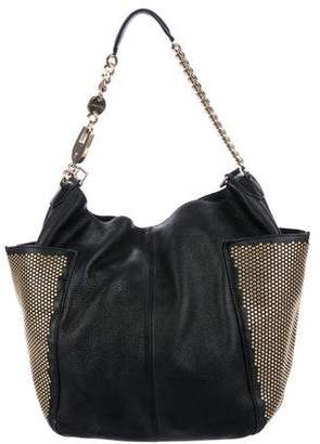 Jimmy Choo Studded Anna Hobo