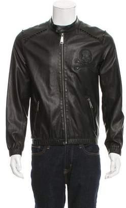 Philipp Plein Studded Leather Jacket