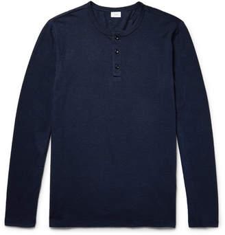 Onia Miles Slub Linen-Blend Henley T-Shirt